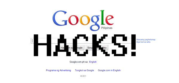 Hack websites with google
